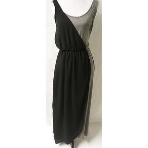 Dresses - Black & Grey Maxi Dress Size Large